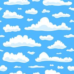 Papiers peints Ciel Seamless pattern with clouds.