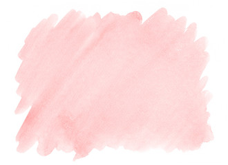 Pink watercolor background with a pronounced texture of paper for decorating design products and printing. Fototapete