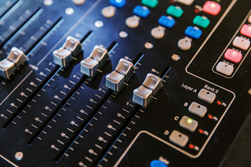 Music equipment for sound mixer control, electornic device