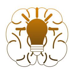 Braind and big idea vector illustration graphic design