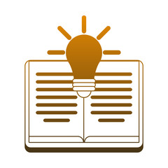 Book open with bulb light vector illustration graphic design