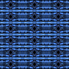 Tech Geometric Seamless Pattern