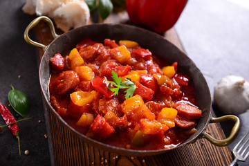 Traditional Hungarian dish - letcho