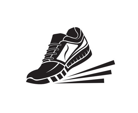 speeding running sport sneakers shoe icon