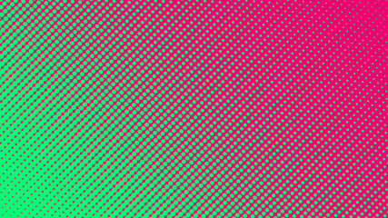 Halftone gradient pattern vector illustration. Green dotted, pink halftone texture. Pop Art style green pink halftone, comics Background. Background of Art. Dots background. AI10