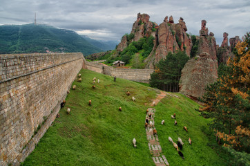 The Belogradchik rocks are natural phenomena. The rock ensemble contains groups of rock figures, resembling people, animals and various objects. An old fortress is situated in their foot.