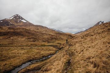 A hiker in Glen Nevis