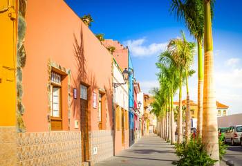 old street in Puerto de la Cruz, Spain