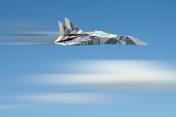 Flying Dollar Jet