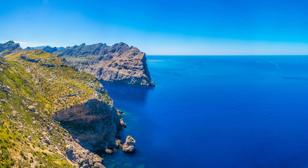 Rocky landscape of Cap Formentor, Mallorca, Spain