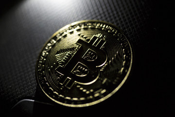 Bitcoin Isolated background crypto currency mining