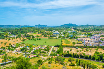 Aerial view of Arta, Mallorca, Spain