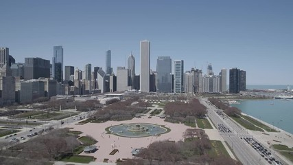 Fototapete - Chicago Drone Videos
