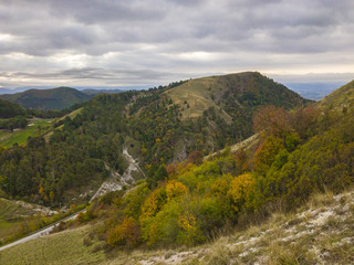 Apennines in autumn, Gubbio, Umbria, Italy, Europe