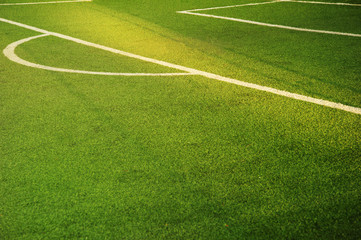 green football or soccer sport field for tournament match and competition background