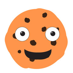 Isolated happy cookie emote
