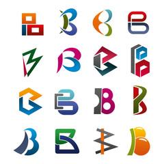 Letter B modern font type for business card design