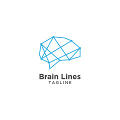 Abstract brain logo template