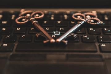 Key on laptop keyboard