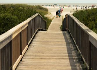 Wildwood Beach New Jersey Boardwalk to Beach