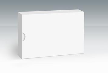 Single white box on ground concept series