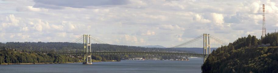 Poster Bridge Tacoma Narrows Bridge Panorama