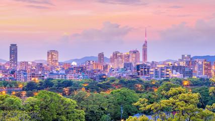 Fototapete - Fukuoka city skyline in Japan