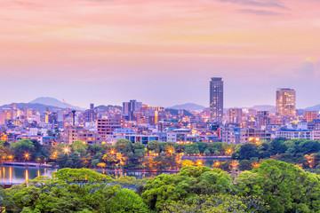 Fukuoka city skyline in Japan