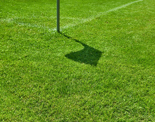 Corner flag shadow