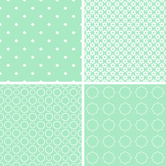 Charming different vector seamless patterns.