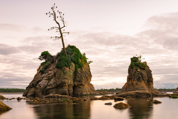 Beautiful rock formation in the pacific ocean, Oregon coast.