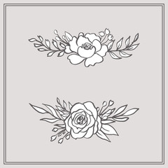 Doodle Floral Bouquets