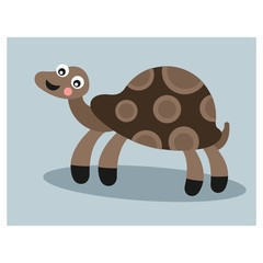 happy funny giant turtle tortoise mascot cartoon character