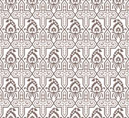 Seamless cute brown paisley wallpaper