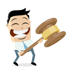 clipart of a businessman with gavel