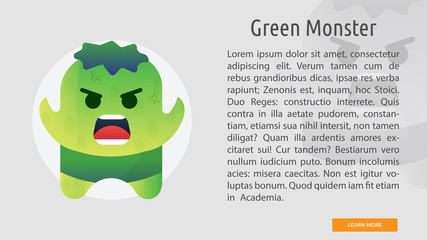 Green Monster Conceptual Banner