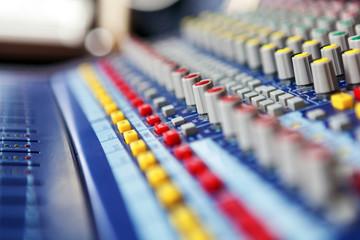 Professional audio mixing concole.