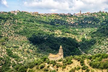 National park Cilento village church
