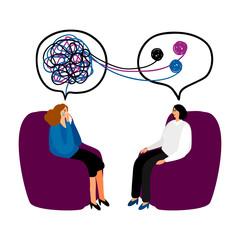 Obraz Psychotherapy concept illustration - fototapety do salonu