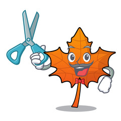 Barber red maple leaf character cartoon