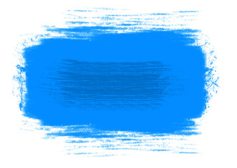 Blue watercolor brush strokes. Abstract cian blue watercolor on white background