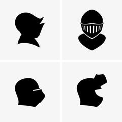 Medieval helmet icons