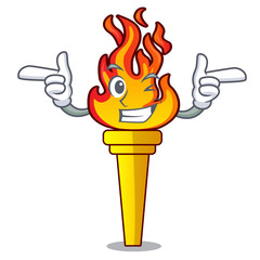 Wink torch character cartoon style