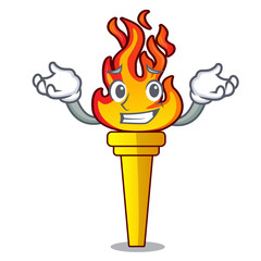Grinning torch character cartoon style
