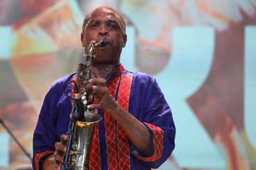 Nigerian musician Femi Kuti performs at the Afrika Shrine in Lagos