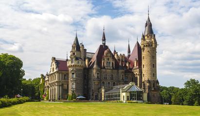 Fotobehang Kasteel castle in Moszna, near Opole, Silesia, Poland