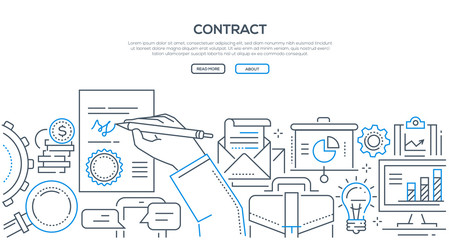 Contract - modern line design style illustration