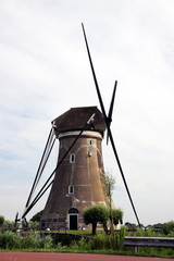 Boezemmolen nr. 6 is a Windmill in restauraion in Haastrecht the Netherlands along river Vlist.