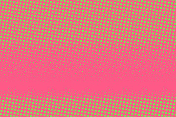 Pink-green halftone background. Digital gradient. Abstract backdrop with circles, point, dots.