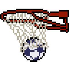 vector pixel art basket soccer